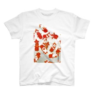 【金魚】宇野系ランチュウ~秋の群泳~ T-shirts