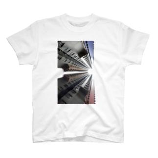 【建築】香港高層マンション2C T-shirts