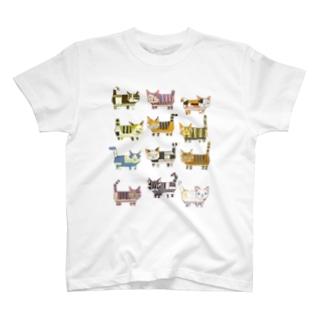 猫ブロック2 T-Shirt