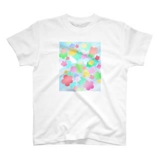 クリスタルフラワー(花柄) T-shirts