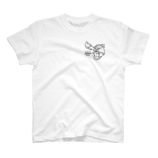 Tシャツ じゃぱんわぷー(黒) 淡 T-shirts
