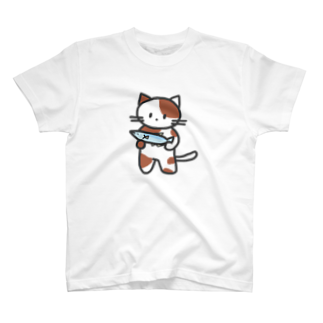 nyanderful timeのおさかなたべよ? Tシャツ
