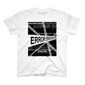 ERROR《white & Black》 T-shirts