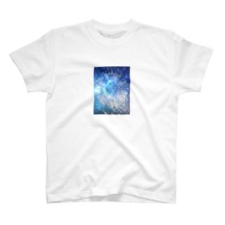 絞り染め☆ブルー T-shirts