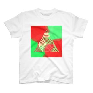 三角ぐるぐる T-shirts