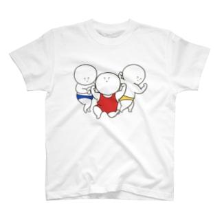 しらたまくんマッスル三兄弟 T-shirts