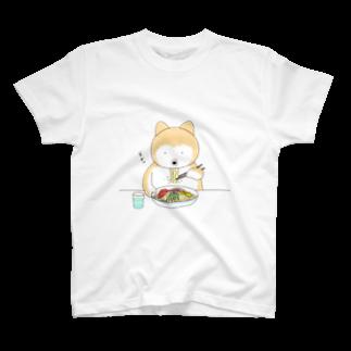 柴犬ポンの冷やし中華始めました Tシャツ