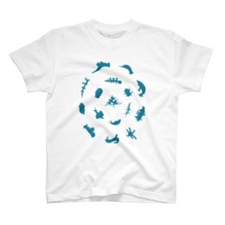 ウミウシルエット(アクア) T-shirts
