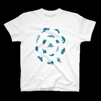 ウミウシャ-のウミウシルエット(アクア) T-shirts