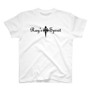 Ray's Spirit Logo ⑤(BLACK) T-shirts