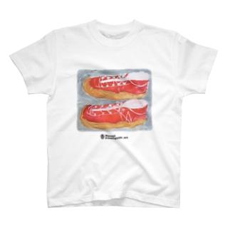 オレンジスニーカー T-Shirt