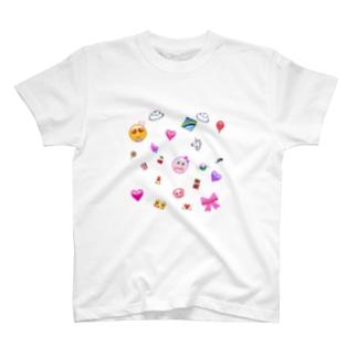 ゆめかわいい絵文字ちゃん T-shirts