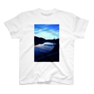 くまきちゲームCHオンラインSHOPのくまちゃんが撮影した風景マスク T-Shirt