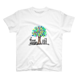 T-shirt(White)/PivotHinge(6) T-shirts