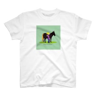 いわてぃすのうまのりめいじん①(馬シリーズ) T-shirts