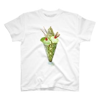 キウイパフェ チョコソース T-shirts