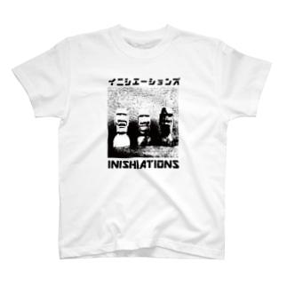 いにしえーしょんず2021 木彫モアイTシャツ T-shirts