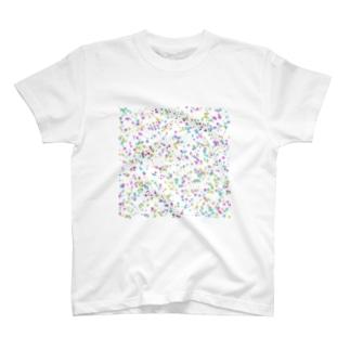 Random Paint01(White) T-shirts