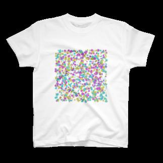 レオナのRandom Paint02(White) T-shirts