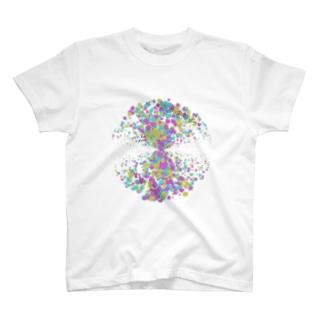 Random Paint03(White) T-shirts