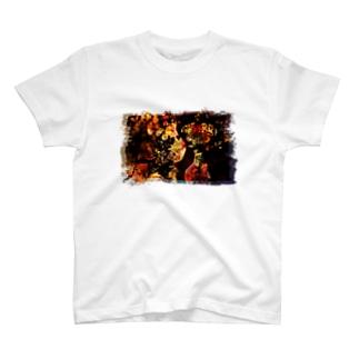 さくらいろのうさぎのflower T-shirts