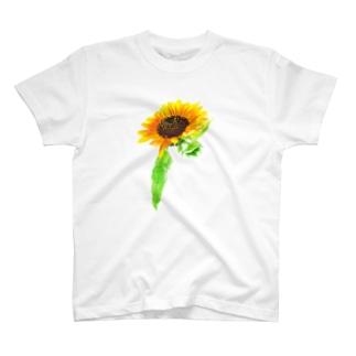 ボタニカル ひまわり T-Shirt
