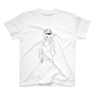 cigarette woman T-shirts