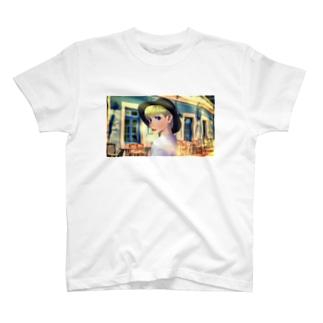 パリカフェ巡り T-shirts