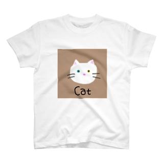 オッドアイねこのミルキー T-shirts