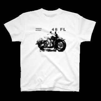TOOEYS WORKSのハーレー48パンヘッドTシャツ T-shirts