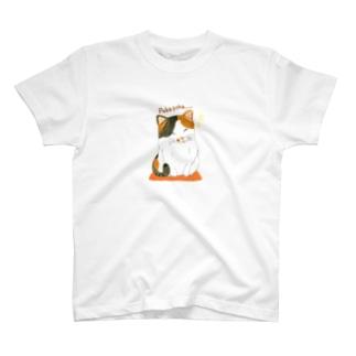 三毛猫Tシャツ【Poka poka...】 T-shirts
