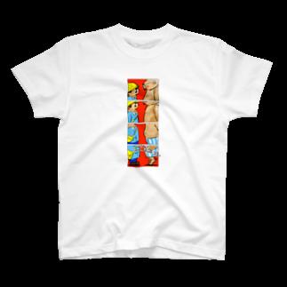 小田ロケット/odaRocketのオノマトペイント No.001「ゴゴゴゴゴ」 T-shirts