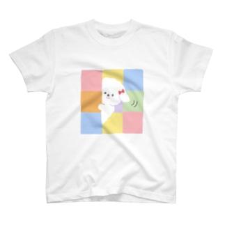 ちらっとわんちゃん T-shirts