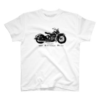 ハーレーダビッドソンナックルヘッドTシャツ T-shirts
