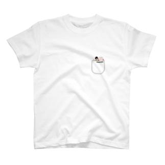 新宿カウボーイ『ポケットからひょこっと顔出し』 T-Shirt