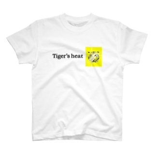 tiger's heat yellow T-shirts