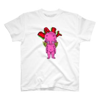 ピンクベイビーTシャツ T-shirts