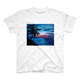 海の絵 T-shirts