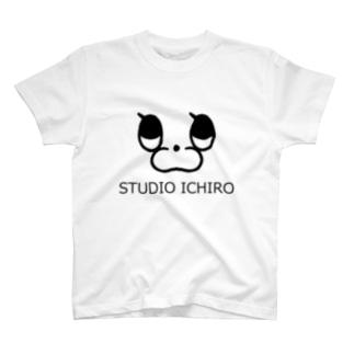 うさぎのフラワーフェイス T-shirts