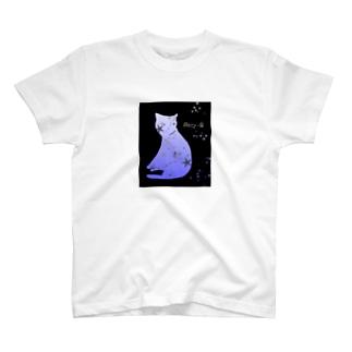星と猫 T-shirts