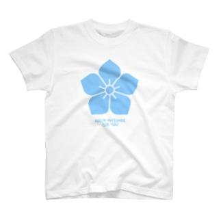 明智光秀【水色桔梗紋/生誕死没】 T-shirts