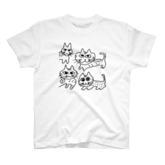 よんねこ T-shirts