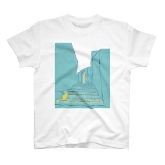 ねこ 目指す景色 T-shirts