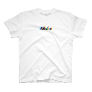 ARuFaカラフルロゴ(小さいロゴ) T-shirts