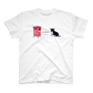T ブダペストのポストと犬 T-shirts