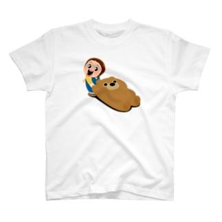 Sho-chan Dragging / くまをズルズルするしょーちゃん T-shirts