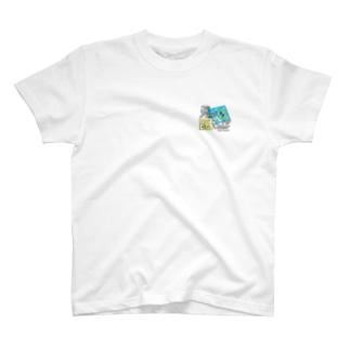 蒲田MAP埋めさんぽロゴ(ワンポイント) T-shirts