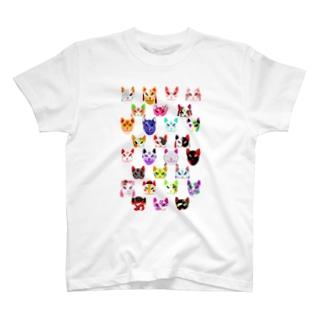 狐面勢揃い T-shirts