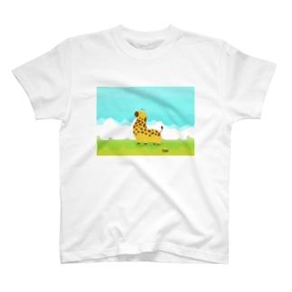 ずんぐりむっくりきりん T-shirts