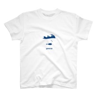 お魚ピース T-shirts